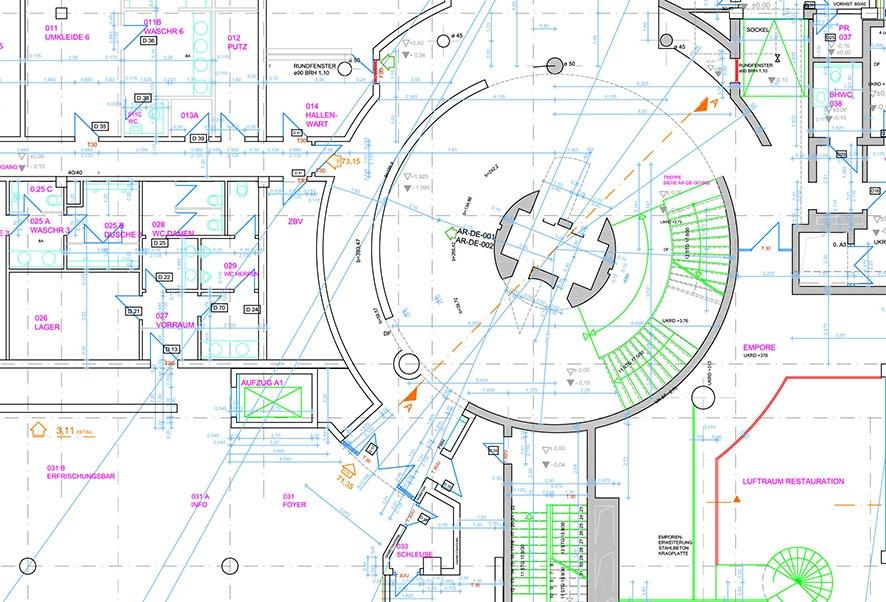 Bei einszueins arbeiten Architekten, Ingenieure und Bauzeichner