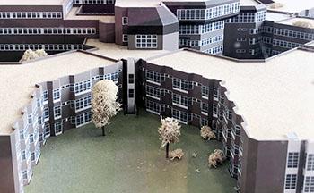 einszueins hat die Pläne des Klinikums Aschaffenburg in CAD digitalisiert.