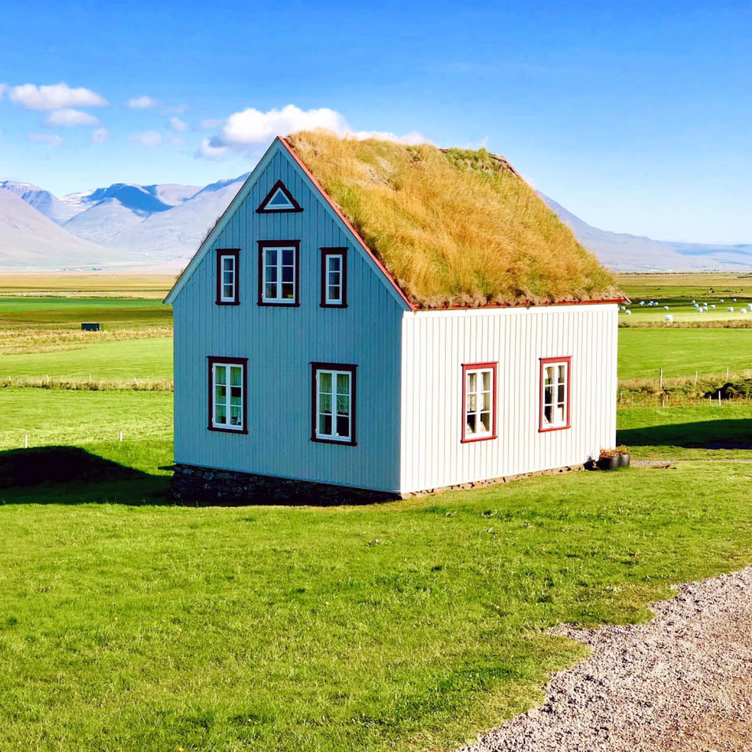 Architektur Wellblechhaus auf Island