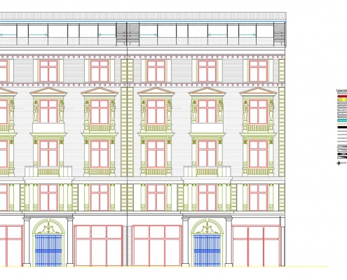 CAD-Plan: Fassade Architektur