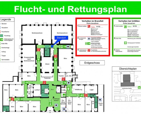 CAD-Plan: Brandschutz Flucht- und Rettungsplan