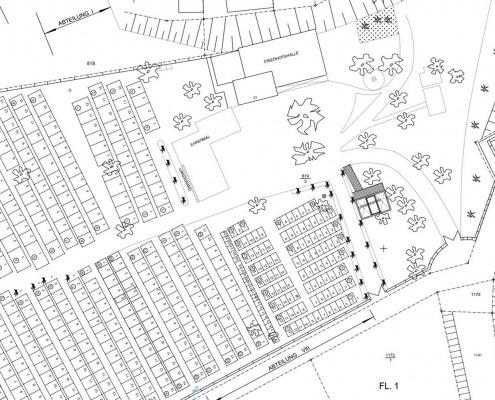 CAD-Plan: Lageplan Freiflächenplan